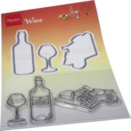 Marianne D Clear Stamp & Die Hetty's Wijn HT1665