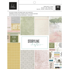 "Heidi Swapp Storyline Chapters Project Pad 7.5""X9.5"" The Scrapbooker,93 Pieces"