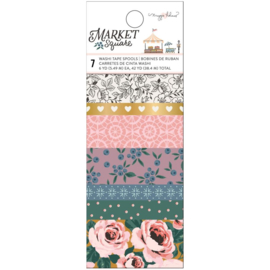 Maggie Holmes Market Square Washi Tape 7/Pkg W/Gold Foil Accents preorder