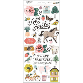 """Maggie Holmes Market Square Cardstock Stickers 6""""X12"""" 129/Pk preorder"""