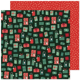 """Crate Paper Busy Sidewalks Double-Sided Cardstock 12""""X12"""" Holiday Style"""