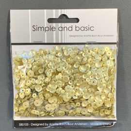 Simple and Basic Platinum Sequin Mix (SBS105)
