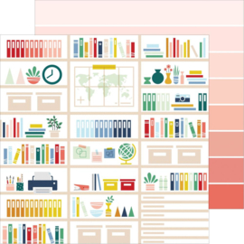 """Pinkfresh Office Hours Double-Sided Cardstock 12""""X12"""" Organize"""