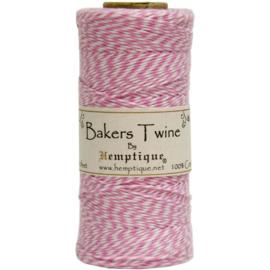 Hemptique Cotton Baker's Twine Spool 2-Ply 410' Light Pink