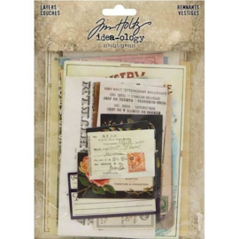 Tim Holtz Idea-Ology Layers Renmants (33pcs) TH93956
