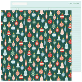 """Crate Paper Busy Sidewalks Double-Sided Cardstock 12""""X12"""" Deck the Halls"""