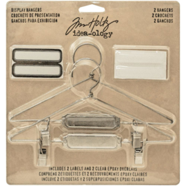 "Tim Holtz Idea-Ology Metal Display Hangers 5.75""X3"" 2/Pkg Nickel"