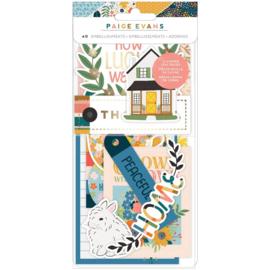 Paige Evans Bungalow Lane Ephemera Cardstock Die-Cuts Icons W/Copper Foil Accents preorder