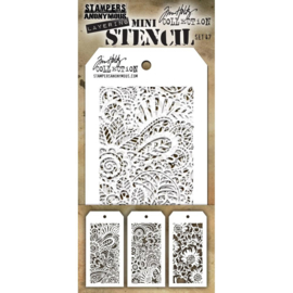 Tim Holtz Mini Layered Stencil Set 3/Pkg Set #47