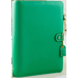 "Webster's Pages Color Crush A5 Faux Leather 6-Ring Planner Binder 7.5""X10"" Summer Green"