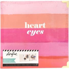 "Heidi Swapp Storyline 3 D-Ring Album 8.5""X11"" Heart Eyes"