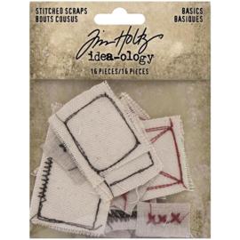 Tim Holtz Idea-Ology Stitched Scraps 16/Pkg Basics