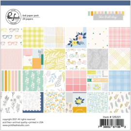 """PinkFresh Studio Double-Sided Paper Pack 6""""X6"""" 24/Pkg The Best Day, 12 Designs/2 Each"""