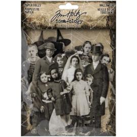 Tim Holtz Idea-Ology Paper Dolls Die-Cuts 22/Pkg Halloween