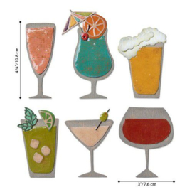 Sizzix - Thinlits Die Set 24PK Happy Hour 664435 Tim Holtz
