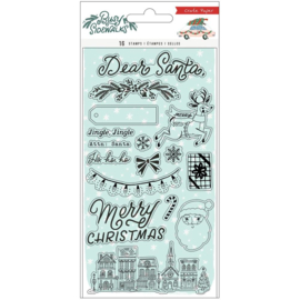 Crate Paper Busy Sidewalks Acrylic Clear Stamps 16/Pkg Preorder