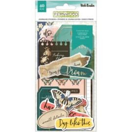 Vicki Boutin Fernwood Ephemera Cardstock Die-Cuts Journaling W/Foil Accents preorder