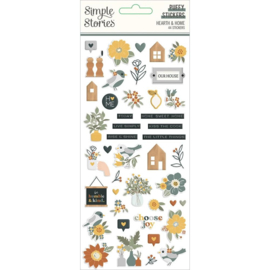 Simple Stories Hearth & Home Puffy Stickers 44/Pkg preorder