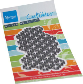 Marianne D Craftable Art texture Zwitsers kruis CR1545