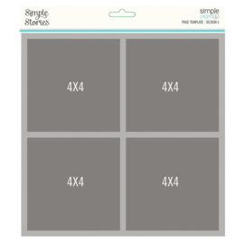 """Simple Stories Simple Pages Page Template (1) 4-4""""X4"""""""