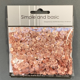 Simple and Basic Rosegold Sequin Mix (SBS107)
