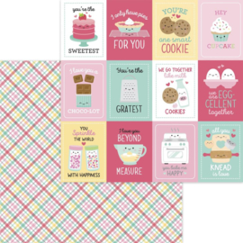 """Dooblebug Made With Love Double-Sided Cardstock 12""""X12"""" Cake Plaider"""