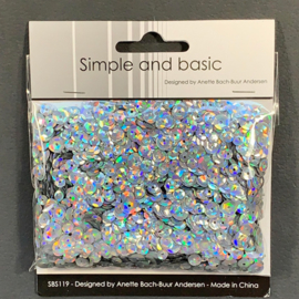 Simple and Basic Holographic Silver Sequin Mix (SBS119)