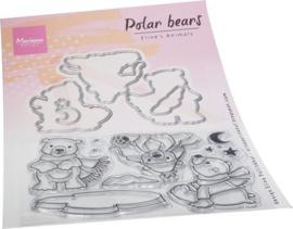 Marianne D Clear Stamps& Die set Eline's Ijsberen EC0193