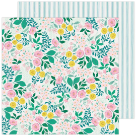 """Maggie Holmes Garden Party Double-Sided Cardstock 12""""X12"""" Wild Flower"""