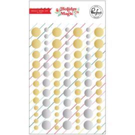 PinkFresh Metallic Enamel Dot Stickers Holiday Magic preorder