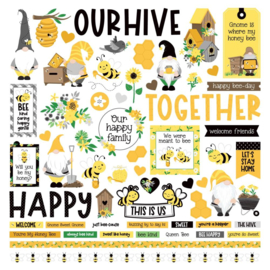 """PhotoPlay Sweet As Honey Stickers 12""""X12"""" Elements"""