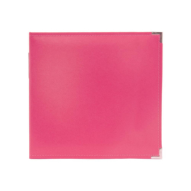 """We R Classic Leather D-Ring Album 12""""X12"""" Strawberry"""