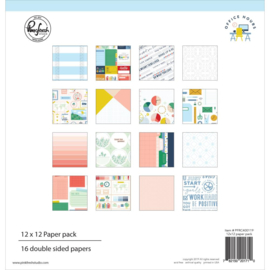 "Pinkfresh Studio Double-Sided Paper Pack 12""X12"" 16/Pkg Office Hours, 8 Designs/2 Each"