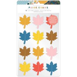 Paige Evans Bungalow Lane Dimensional Stickers 12/Pkg Leaf Embellishment preorder