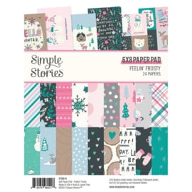 """Simple Stories Double-Sided Paper Pad 6""""X8"""" 24/Pkg Feelin' Frosty preorder"""