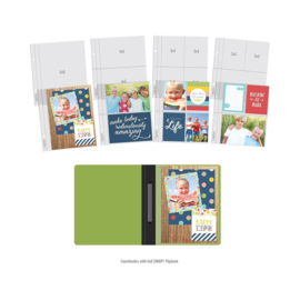 """Simple Stories Sn@p! Pocket Pages For 6""""X8"""" Flipbooks 10/Pkg Multi Pack"""