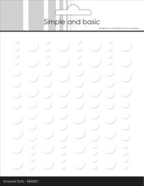 Simple and Basic Adhesive Enamel Dots Soft White (96pcs)