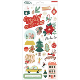 """Crate Paper Busy Sidewalks Cardstock Stickers 6""""X12"""" 68/Pkg Accents & Phrases Preorder"""
