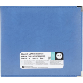 "We R Classic Leather D-Ring Album 12""X12"" Country Blue"