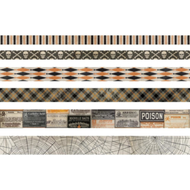 Tim Holtz Idea-Ology Design Tape 6/Pkg Halloween