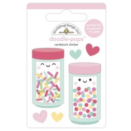Doodlebug Doodle-Pops 3D Stickers Sprinkle Shoppe