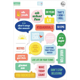 Pinkfresh Acetate Speech Bubbles Die-Cuts Super Cool