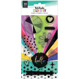 Vicki Boutin Color Study Acrylic Stamps 13/Pkg Hello