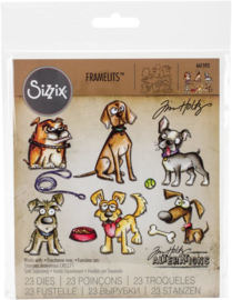 Sizzix Framelits Die Set 23PK-Crazy Dogs by Tim Holtz 665193