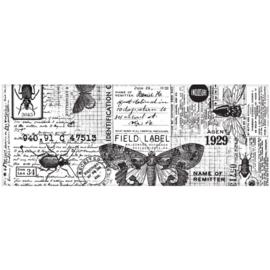 "Tim Holtz Idea-Ology Collage Paper 6""X6yds Entomology"