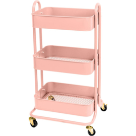 We R A La Cart Storage Cart With Handles Pink