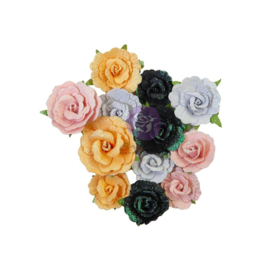 Prima Marketing Mulberry Paper Flowers Candy Corn/Thirty-One