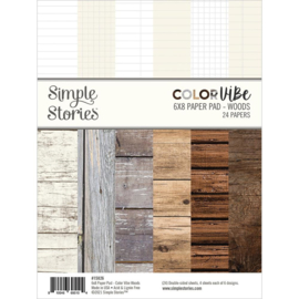 """Simple Stories Double-Sided Paper Pad 6""""X8"""" 24/Pkg Color Vibe Woods"""