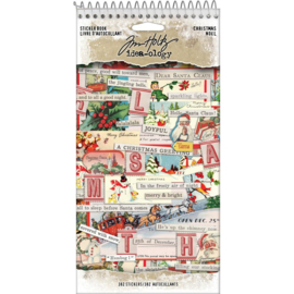 "Tim Holtz Idea-Ology Sticker Book 4.5""X8.75"" Christmas, 382/Pkg preorder"