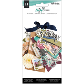 Vicki Boutin Storyteller Tags & Journaling Pieces W/Iridescent Glitter Accents